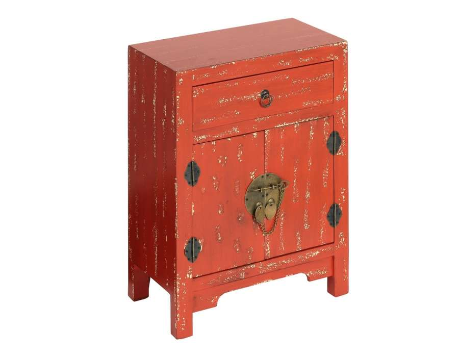 petit meuble de rangement chinois rouge vieillie meuble. Black Bedroom Furniture Sets. Home Design Ideas