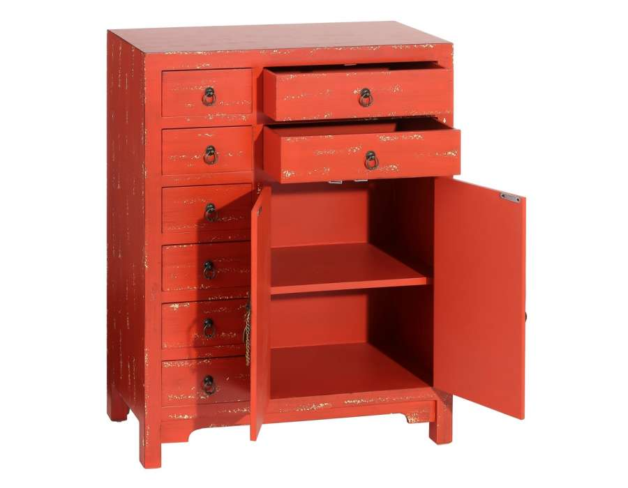 buffet chinois rouge orang e vieillie meuble chinois pas cher. Black Bedroom Furniture Sets. Home Design Ideas