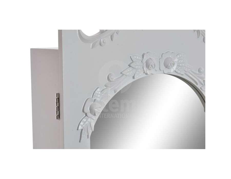 Miroir sur pied avec porte bijoux romantique - Miroir avec porte bijoux ...