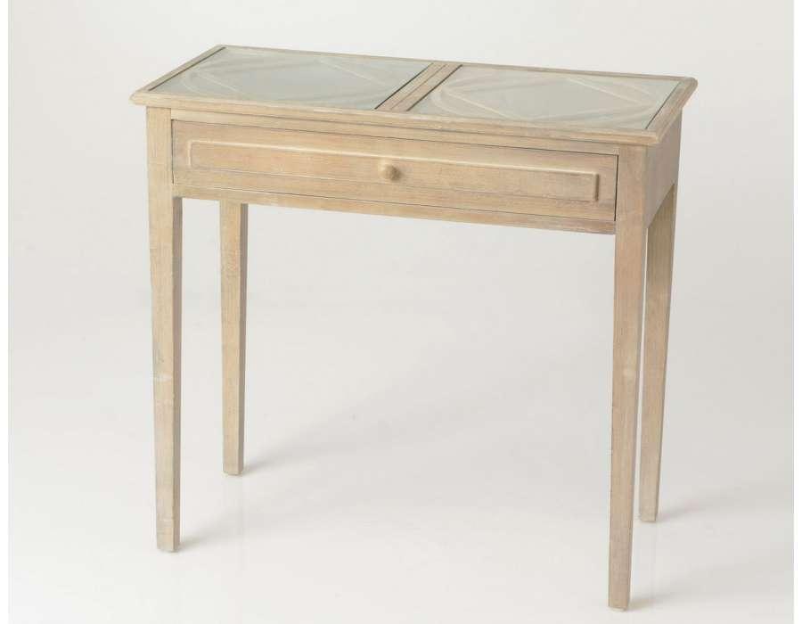 console de 80 cm c rus e avec miroir. Black Bedroom Furniture Sets. Home Design Ideas