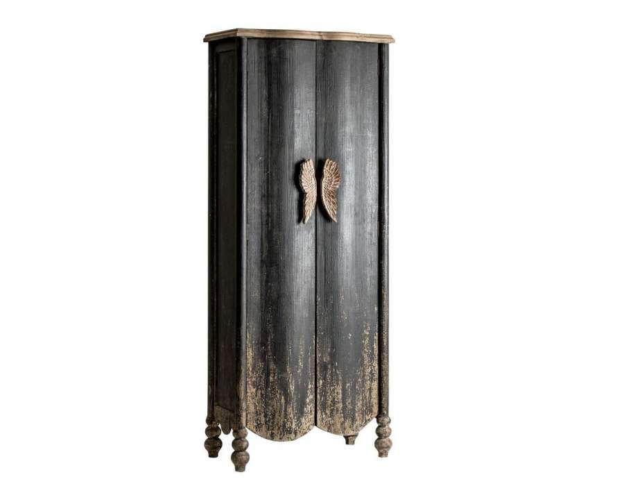 Armoire baroque noire tr s vieillie vical home for Grande armoire noire