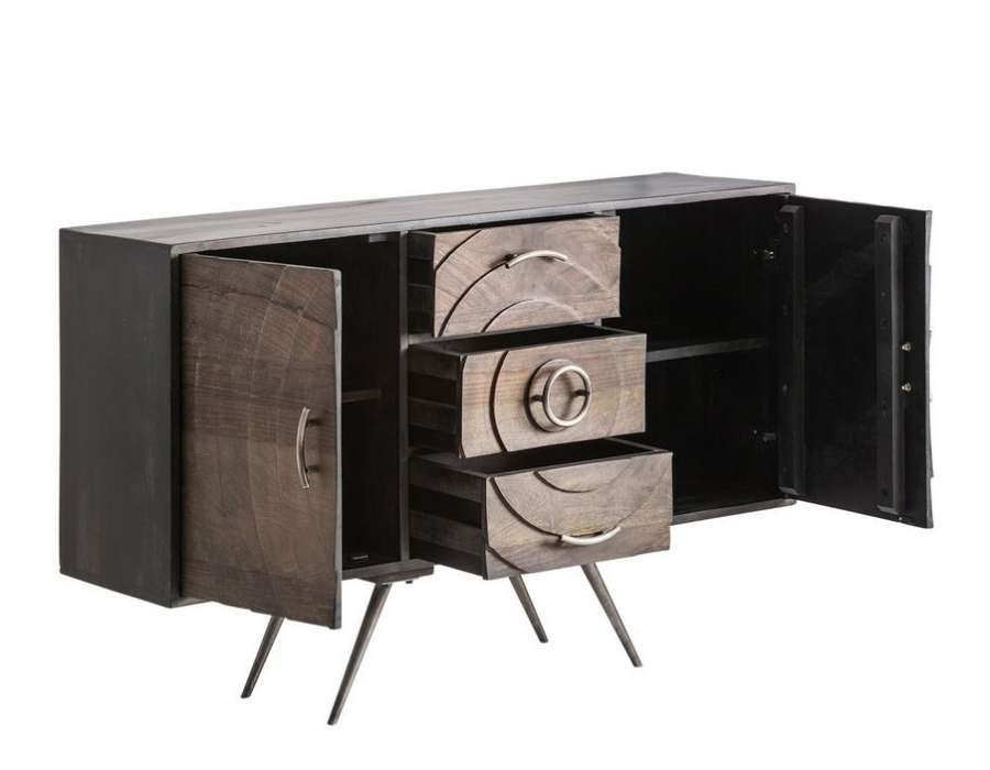 buffet design vical concept en bois et m tal. Black Bedroom Furniture Sets. Home Design Ideas