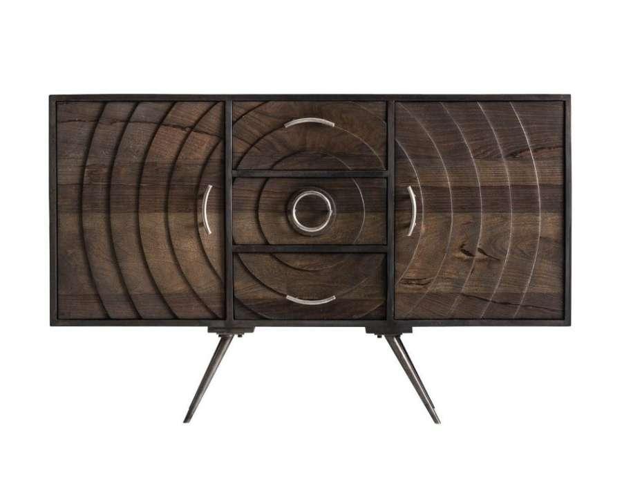 buffet design vical concept en bois et m tal. Black Bedroom Furniture Sets. Home Design Ideas