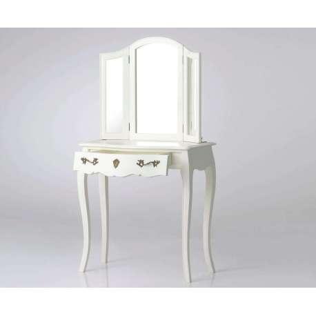coiffeuse galb e avec miroir trois volets romantique amadeus. Black Bedroom Furniture Sets. Home Design Ideas
