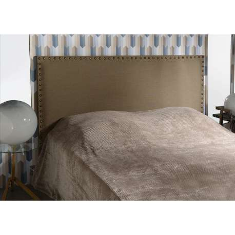 Tête de lit cloutée marron 180 cm