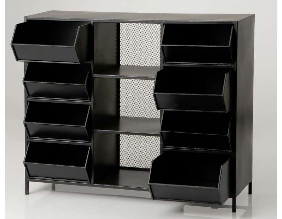 grand meuble casiers industriels avec 8 casiers amadeus. Black Bedroom Furniture Sets. Home Design Ideas