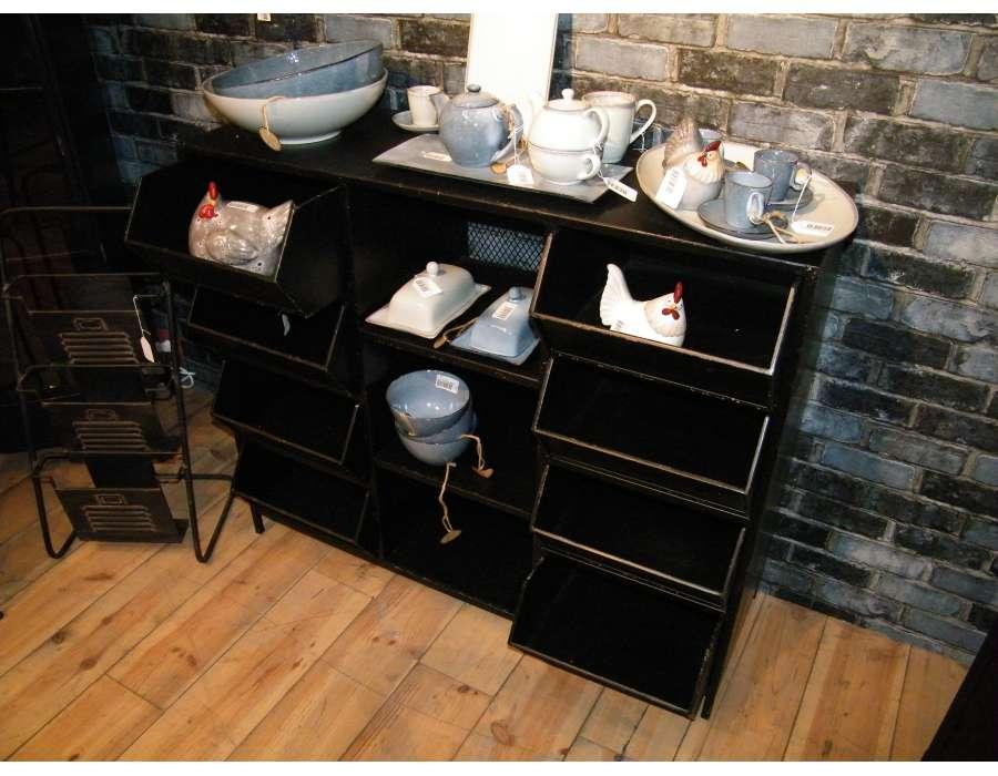 grand meuble casiers industriels avec 8 casiers amadeus. Black Bedroom Furniture Sets. Home Design Ideas