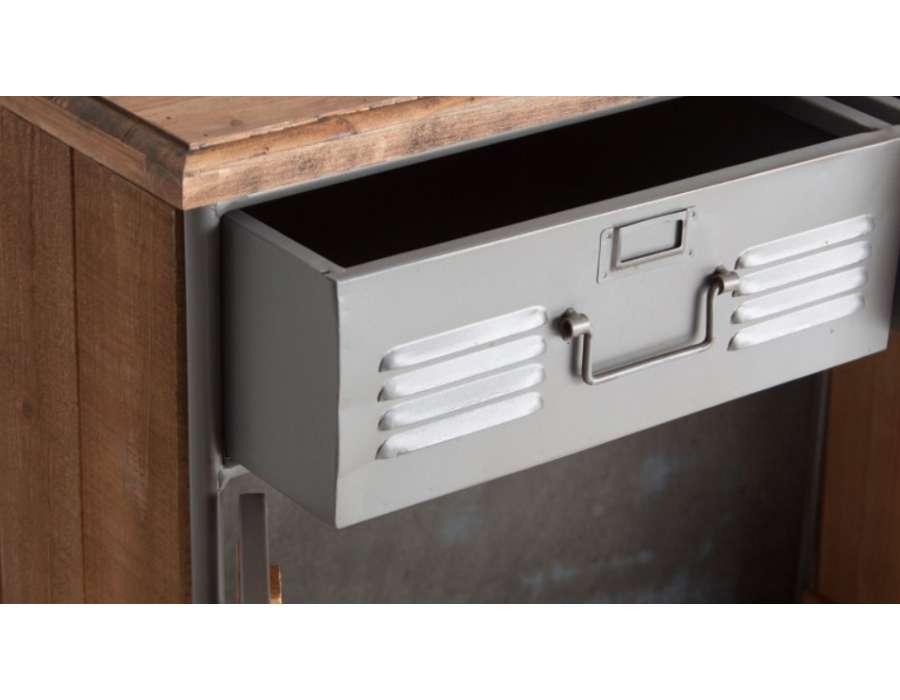 Buffet loft métal bois