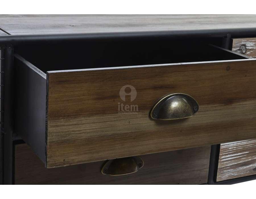 Meuble télé vintage industriel arrondi 6 t