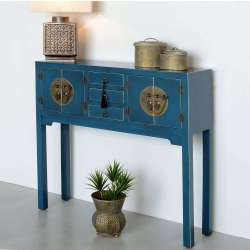 Console chinoise bleue canard 90 cm