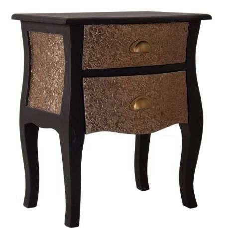 table de nuit orientale noire vical home. Black Bedroom Furniture Sets. Home Design Ideas