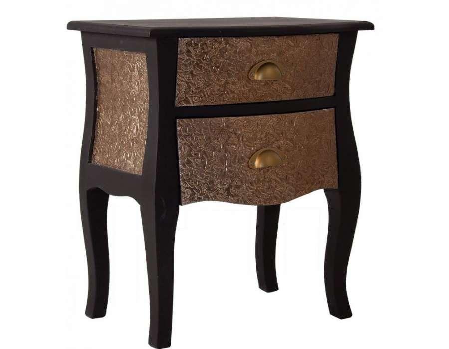 Chevet galbé noir oriental Vical Home