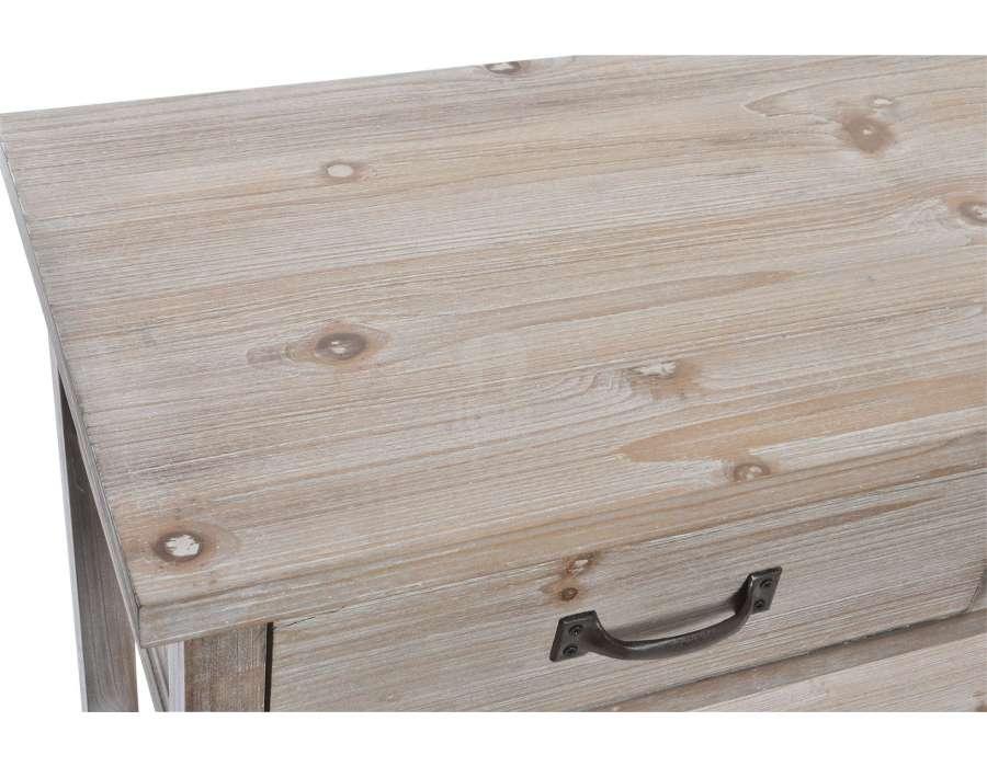 Console de drapier bois cérusé 160 cm