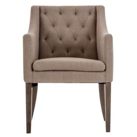 69a03d399a74 fauteuil capitonnée sable en bois robuste Vical home