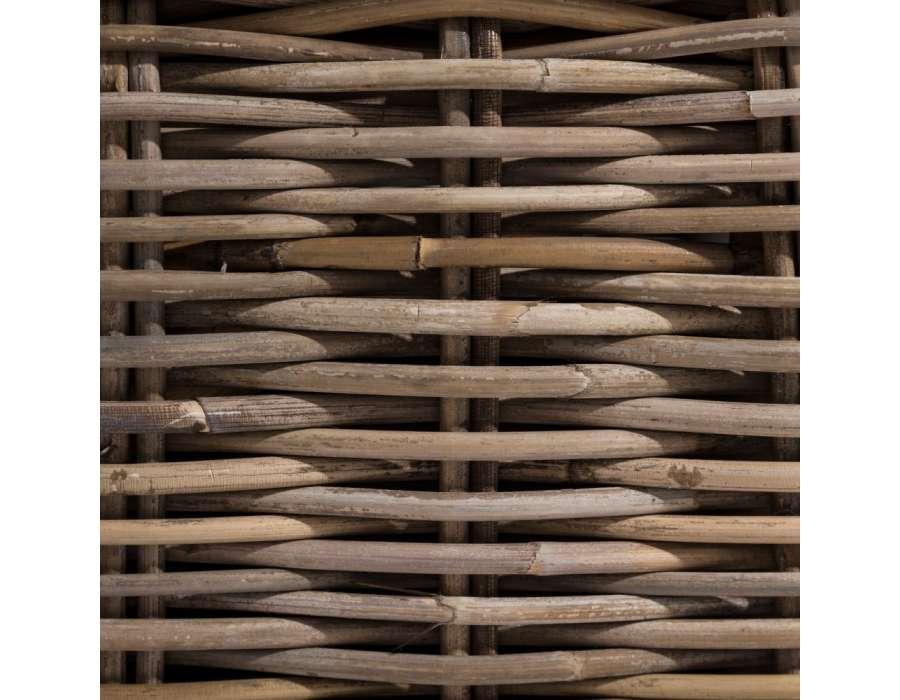 Fauteuil en rotin naturel avec coussin