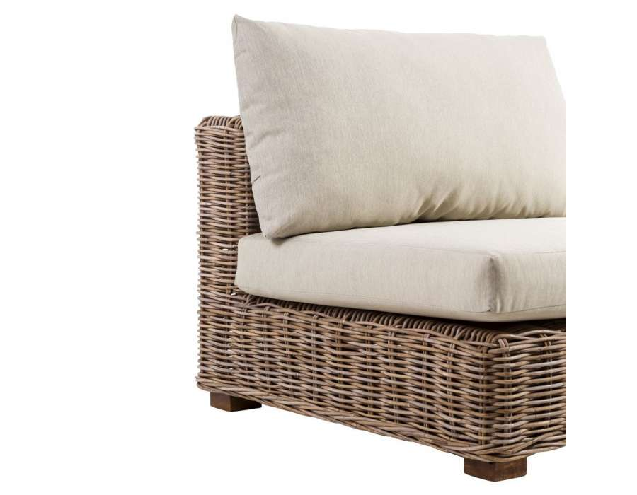 fauteuil pour le jardin en rotin naturel confortable avec. Black Bedroom Furniture Sets. Home Design Ideas