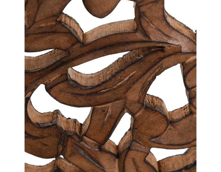 tete de lit 150 cm bois patin vieilli sculpt pas chere. Black Bedroom Furniture Sets. Home Design Ideas