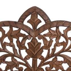 Tête de lit orientale bois naturel sculptée lit de 140 cm