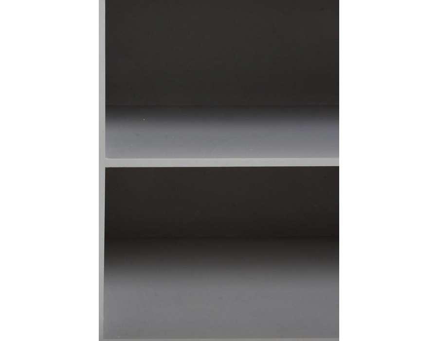 Meuble télé gris portes décorées Baltic