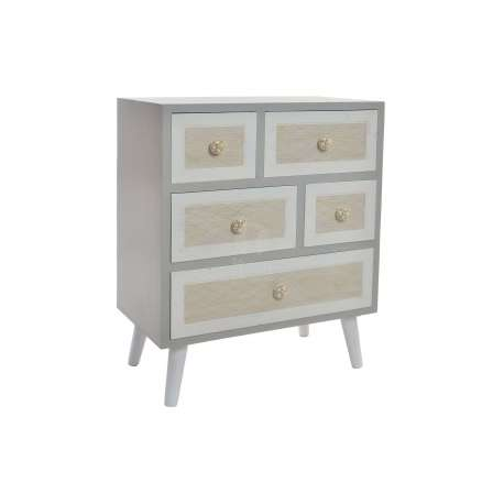 Commode grise 5 tiroirs d cal s ou table chevet gris - Commode grise tiroirs ...