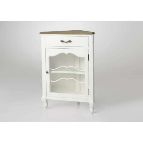 meuble d 39 angle romantique blanc campagne chic. Black Bedroom Furniture Sets. Home Design Ideas