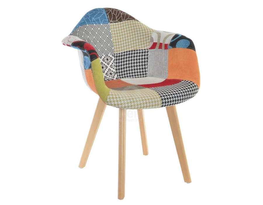 Chaise tapissé patchwork par 2