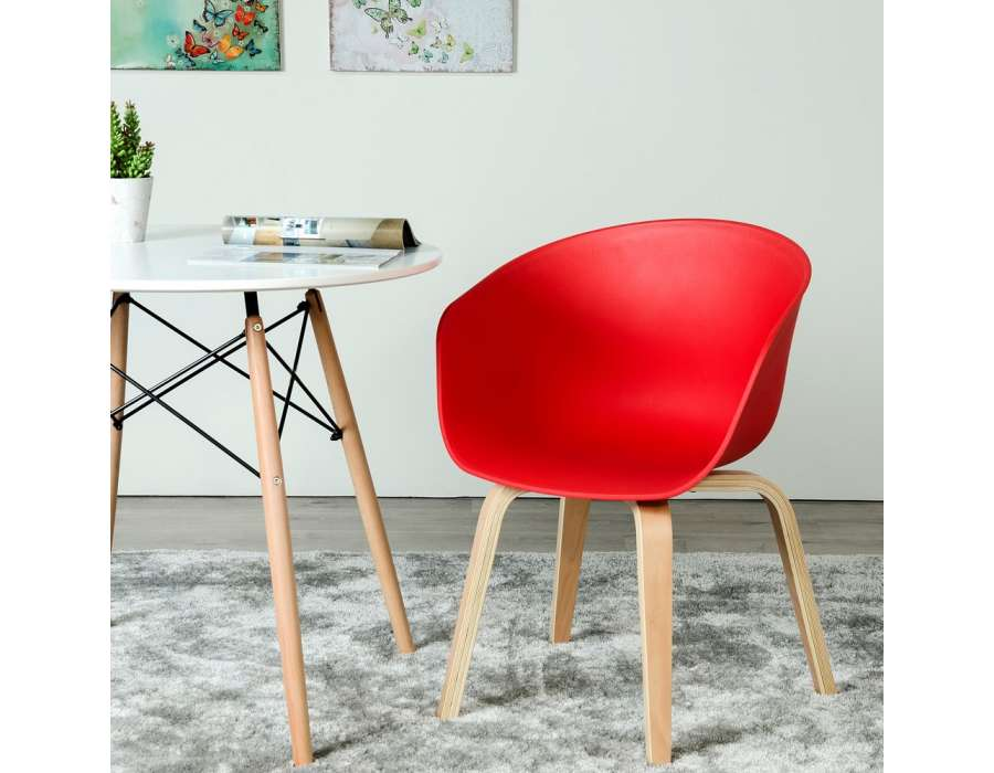 Chaise moderne design rouge