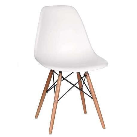 Chaise Design Blanche Scandinave Mat