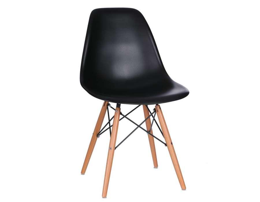Chaise design noire scandinave mat
