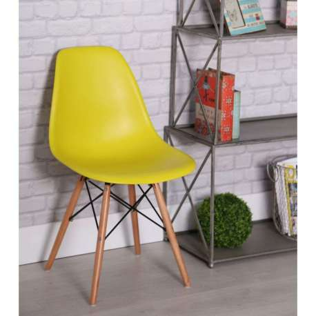 Chaise Design Jaune Scandinave Mat