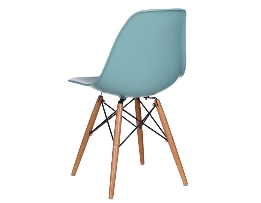 Chaise design turquoise scandinave mat