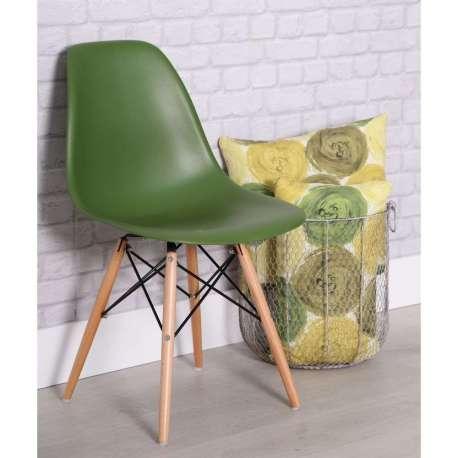 chaise design verte scandinave mat - Chaise Verte