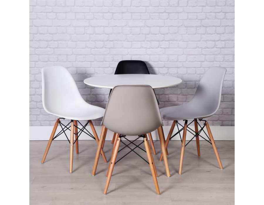 chaise grise design mat scandinave pas cher vendre. Black Bedroom Furniture Sets. Home Design Ideas