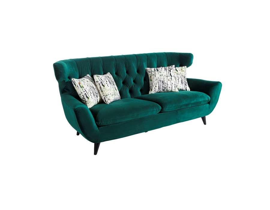 canap design vert 3 personnes pour salon de beaut ou salle d 39 attente. Black Bedroom Furniture Sets. Home Design Ideas