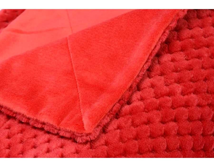 Plaid rouge damier Amadeus 170 cm
