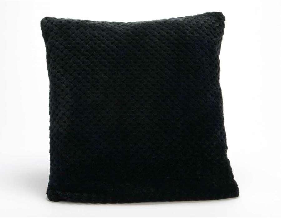 Coussin noir damier par 2