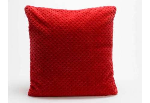 Coussin rouge damier par 2