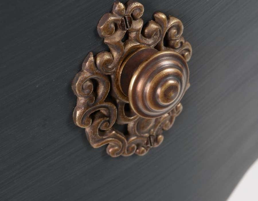 Console baroque grise élégante