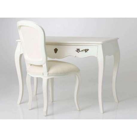 Bureau blanc cassé pas cher avec un style baroque