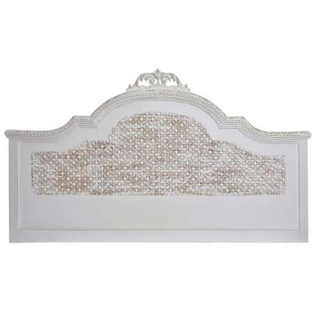 t te de lit baroque blanche romantique patin e 160 cm. Black Bedroom Furniture Sets. Home Design Ideas