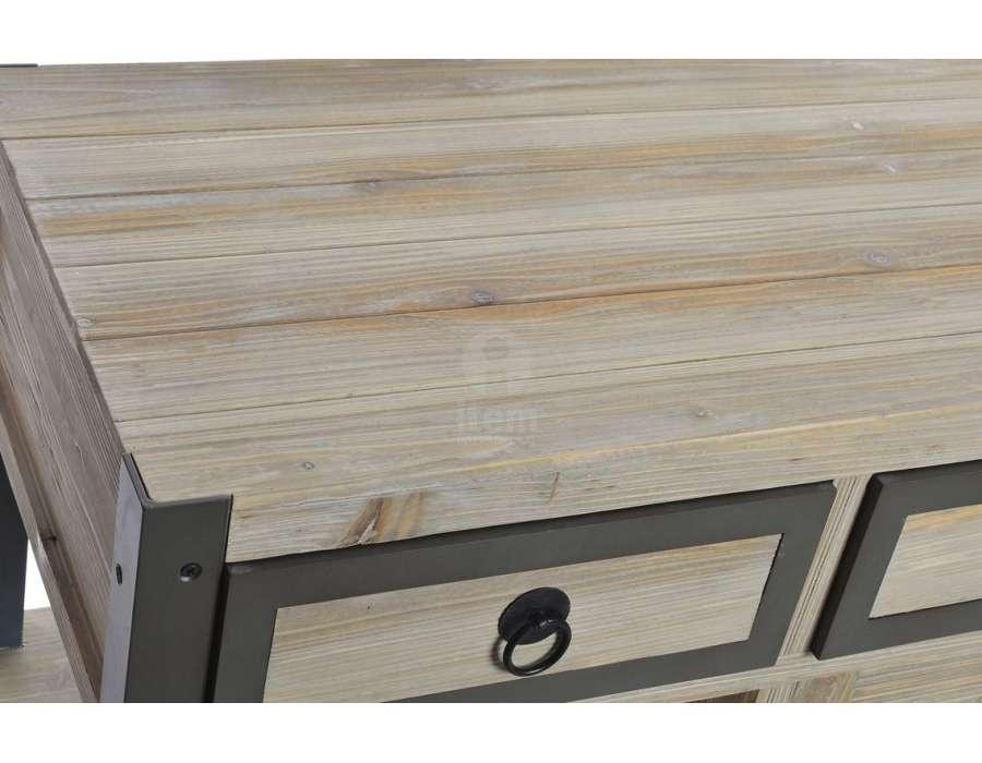 Drapier bois et métal avec placard Listo