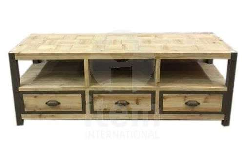 Meuble télé industriel métal bois robuste