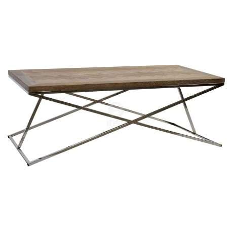 table rectangulaire bois et acier design. Black Bedroom Furniture Sets. Home Design Ideas