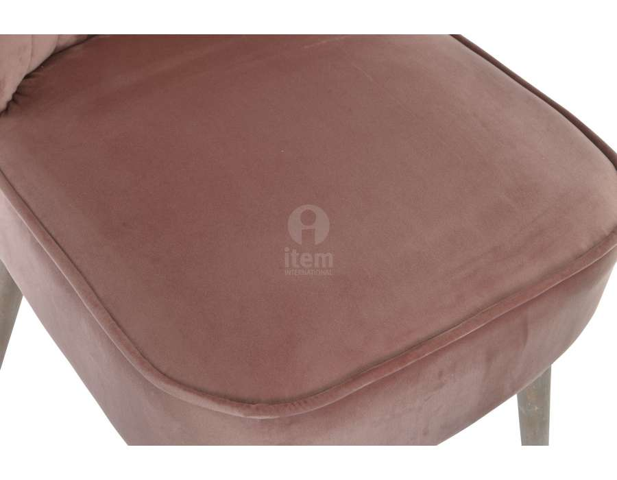 Chauffeuse rose velours moderne
