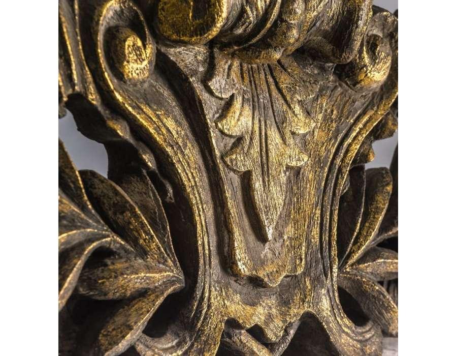 Miroir baroque dorures vieillies