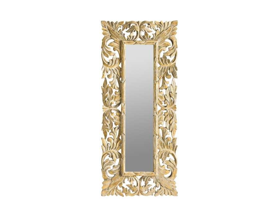 Grand miroir baroque champagne