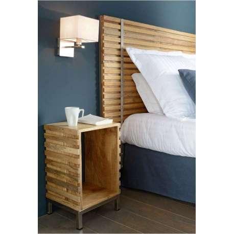 Table de nuit bois contemporaine marque amadeus