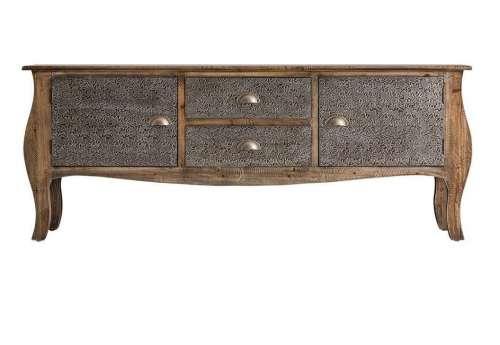 Meuble tv en bois cérusé oriental bombé Vical Home
