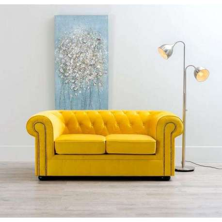 canap chesterfield jaune 2 places pas cher. Black Bedroom Furniture Sets. Home Design Ideas