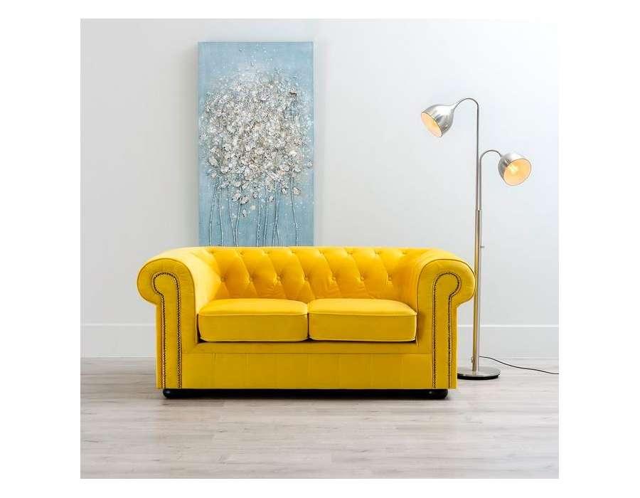 canap chesterfield jaune 2 places pas cher. Black Bedroom Furniture Sets. Home Design Ideas